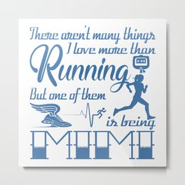 Running Mimi Metal Print