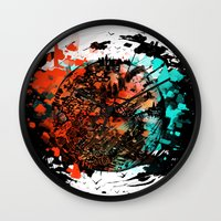 mars Wall Clocks featuring Mars by DizzyNicky
