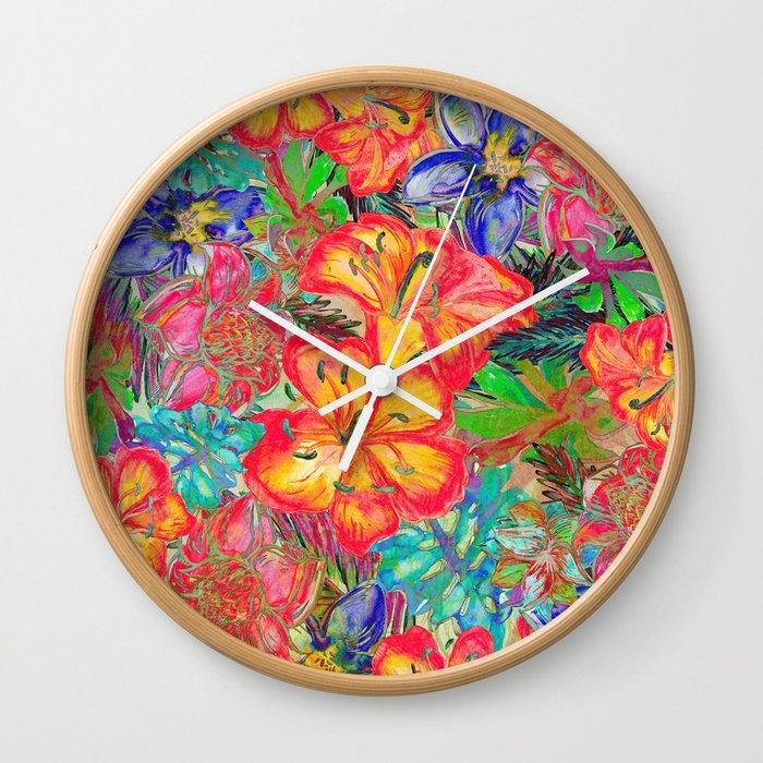 My Tropical Garden 6 Wall Clock