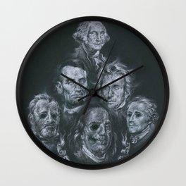 Dead Presidents Wall Clock
