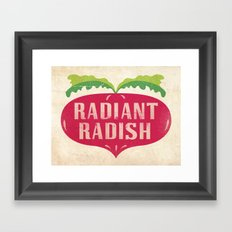 Radiant Radish Framed Art Print