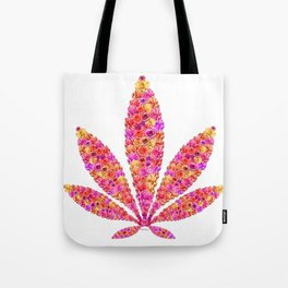 Flowering Ganja Leaf Tote Bag
