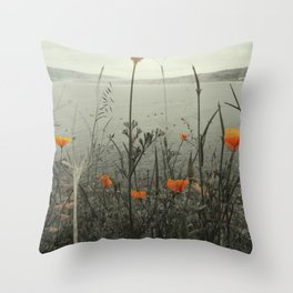 Poppies Shifted Throw Pillow