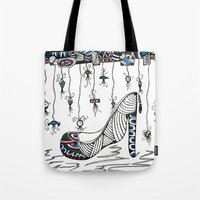 shoe Tote Bags featuring Shoe by Kimberly McGuiness