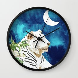 Moonbath #painting #animalprint Wall Clock