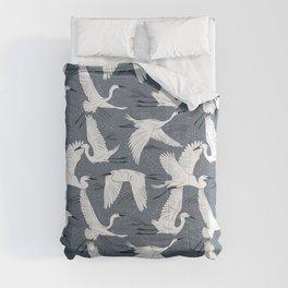 Soaring Wings - Steel Blue Grey Comforters