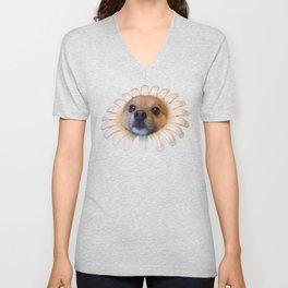 Flower Doggo Unisex V-Neck