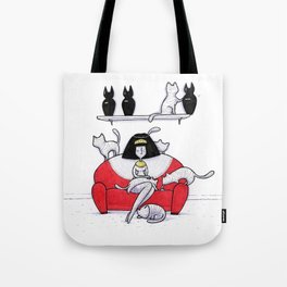 Mummy Cat Lady Tote Bag