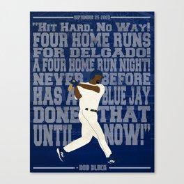 Four Home Runs Canvas Print