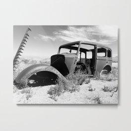 Antique car in Nevada Metal Print