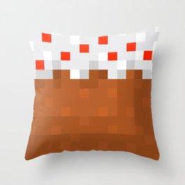 MineCake Throw Pillow