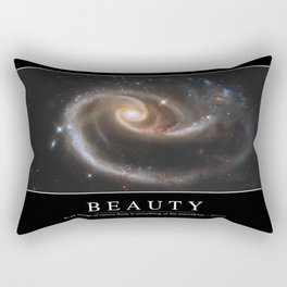 Beauty: Inspirational Quote and Motivational Poster Rectangular Pillow