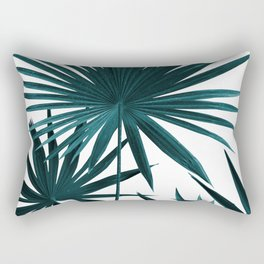 Fan Palm Leaves Jungle #1 #tropical #decor #art #society6 Rectangular Pillow