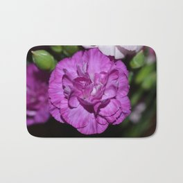 Lilac carnation Bath Mat
