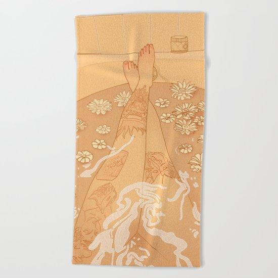 Flower Bath 10 (uncensored version) Beach Towel