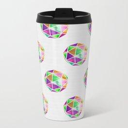 vivid dodecahedron Metal Travel Mug