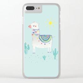sunshine llama Clear iPhone Case