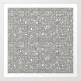 Cositas in White! Art Print