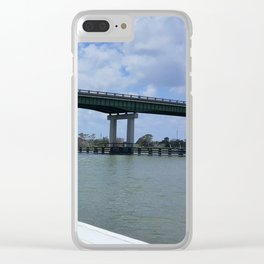 Tybee Island Bridge Clear iPhone Case