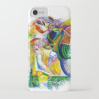 bookworm iPhone & iPod Cases featuring Bookworm by CrismanArt