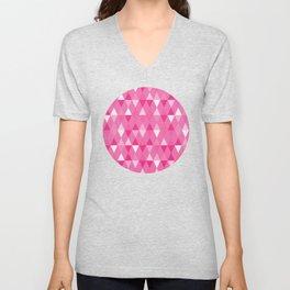 Harlequin Print Pinks Unisex V-Neck