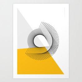 Abstract Minimal Line Art Print