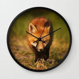 Kit on the Prowl Wall Clock