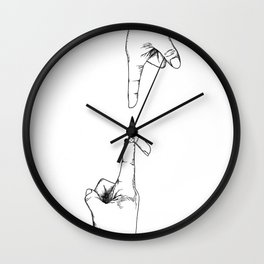 Hot to the Touch Wall Clock