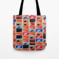 nike Tote Bags featuring Nike Boxes by I Love Decor