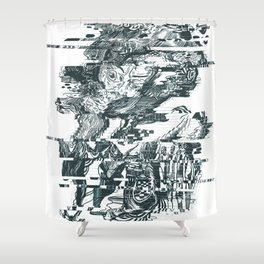 glitch1 Shower Curtain