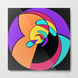 2D - abstraction -1a- Metal Print