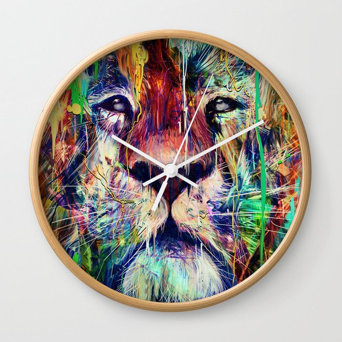 Lion Wall Clock By Nicebleed Society6