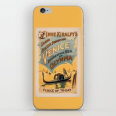 Vintage theatrical poster for Imre Kiralfy's production of Venice Bride of the Sea at Olympia iPhone & iPod Skin