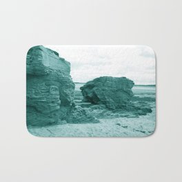 Shaped By The Sea - Turquoise Palette Bath Mat