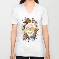 hayao miyazaki V-neck T-shirts featuring Miyazaki-San by Danny Haas