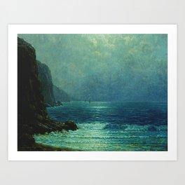 Night Sailing, California Pacific Coast by Granville Redmond Art Print