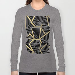 Ab Lines 2 Gold Long Sleeve T-shirt