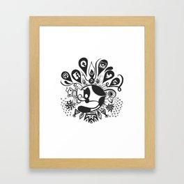 Social Cat Framed Art Print