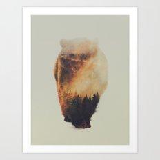 Walking Bear Art Print