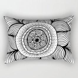 Doodle Flower Rectangular Pillow
