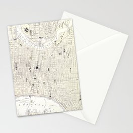 Vintage Map of Philadelphia (1885) Stationery Cards