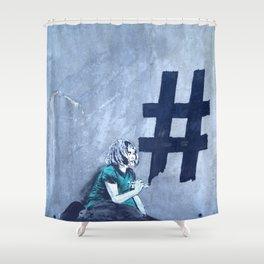 Grafitti # diese girl Shower Curtain