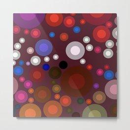 Retro Multi Color Bubbles Metal Print