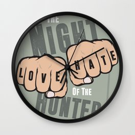 The Night of the Hunter - Alternative Movie Poster Wall Clock