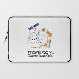 Space Cats - Spaceship Galaxy Satellite Kitten Laptop Sleeve