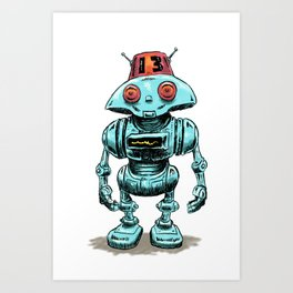 Little Robo Art Print