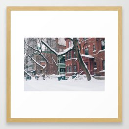 Trees & Snow Framed Art Print