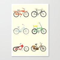 bikes Canvas Prints featuring Bikes by Samantha Eynon
