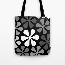 Abstract Flowers Monochrome Tote Bag