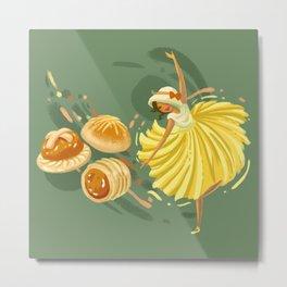Pineapple Tart Metal Print